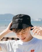 ThreeArrows 刺繍 Bucket Hat (black)