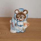 【ロシア】 ミーシャ 陶器の人形 (大・宇宙飛行士) こぐまのミーシャ 旧ソ連 USSR