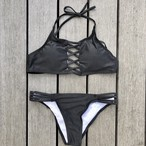 Bikini♡レースアップホルタービキニ ブラック