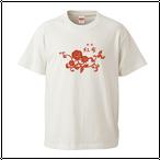 紅布花柄ロゴ バニラホワイト