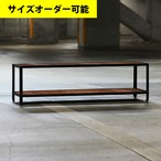 IRON FRAME LOW SHELF FLOAT 142CM[TEAK COLOR]サイズオーダー可