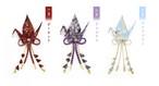 誕生石カラー石付 織り鶴ブローチ