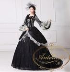レディース エリザベート シシィ 風 演劇 衣装 貴族 ハロウィン 大衆演劇 コスプレ マリーアントワネット ドレス