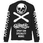 【予約商品】RAKUGAKI Stencil Skull Logo Long T-Shirts Black