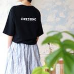 DRESSING バックプリント 5分袖Tシャツ *リヨカ(Liyoca)