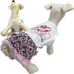 1。puppyangel【正規輸入】犬 服 ワンピース 袖なし ヒョウ柄 春 夏物