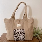 Tote bag L - Beige / Cheetah Ver.4