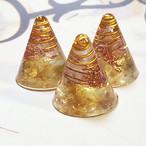 ミニ円錐型 シトリンオルゴナイト 3個セット