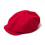 "Just Right ""Sports-Newsboy Cap Classic"" Red"