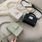 【送料無料】 オシャレ度上がる♡ レトロ ボックス スクエア型 ミニサイズ 2way ハンド ショルダー バッグ カバン