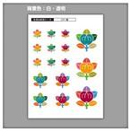 家紋ステッカー 橘  5枚セット《送料無料》 子供 初節句 カラフル&かわいい 家紋ステッカー