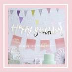 happy birthday バナー【ゴールド&シルバー】 誕生日  1歳 赤ちゃん ベビー 飾り 装飾 飾り付け プレゼント バースデー