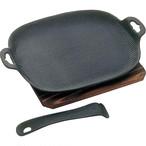 及源鋳造 OIGEN 焼き焼きグリルどっしり 焼き皿 27cm 南部鉄器 ガスコンロ対応 IH対応 オーブン対応 アウトドア 用品 キャンプ グッズ