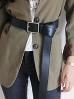 ロングレザーベルト ★UNISEX ベルト 韓国ファッション