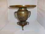 薄端花器(山水) bronze vase(landscape)