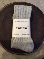 YAECA / ヤエカ COTTON/SILK SOCKS L.GRAY