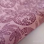 正絹 撫子色に丸紋の帯揚げ