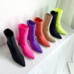 予約注文商品 カラーセットインアンクルブーツ アンクルブーツ 韓国ファッション