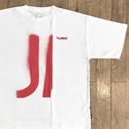 """【残りわずか】hummel × Jazzy Sport """"JAZZ"""" ステンシル Tシャツ/ホワイト"""