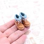 小さな革ブーツ|マロン裏地付