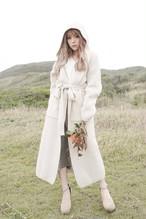 Knit Long Gown Coat