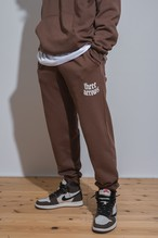 【10/6(WED)20:00販売開始】THREEARROWS LOGO SET UP Pants (dark brown)