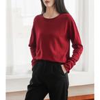 【tops】好感度アップ丸ネック白効かせ気分転換Tシャツ 23116466