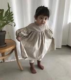 バルーンスリーブ シャーリングドレス ワンピース 韓国子供服/韓国ベビー服 女の子