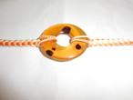 輪型鼈甲帯留 tortoiseshell work obi sash clip(circle)(No6)
