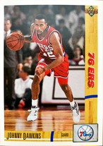 NBAカード 91-92UPPERDECK Johnny Dawkins #176 76ERS