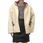 40's Vintage Reversible Wool boa Blouson