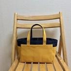 「ボックストート」ミニサイズ 「ネイビー(紺)×マスタード」帆布トートバッグ 倉敷帆布 和泉木綿