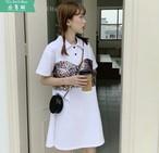 ★06226 レディースファッション ミニワンピース 半袖 春夏 2019新作