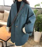 3色 チェスターコート コート ミディアム アウター カジュアル 大人可愛い 秋冬 お出かけ デート 通勤 韓国 オルチャン