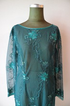 Emerald green embroidery onepiece
