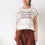 草花パターンの手織りブラウス / 263a / MEXICO メキシコ