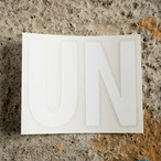 unfudge LOGO STICKER / WHITE