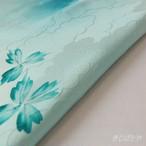 正絹 水色に青花のはぎれ