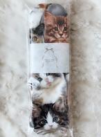 Siamese 猫柄布ナプキン Mサイズ (猫いっぱい)