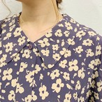 (LOOK) flower pattern l/s shirt