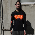 Dripping Logo Long Sleeve / Neon orange