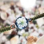 爽やかな白い花のブレスレット/00602-2【試作品】