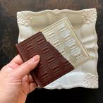 革のチョコ・札ばさみ スイート(銀の包み紙)