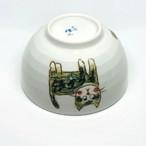 【砥部焼/輝山窯】こども食器・茶碗(ネコ)