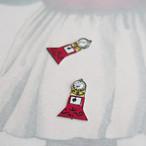 ヴィンテージ 小さな古時計のチャーム(レッド・2コ)