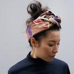 Silk&Wool 'Wednesday' リバーシブルヘッドスカーフ/ミニスカーフ