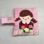 「女の子と花束」保冷袋付きランチベルト 1