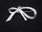 光石リボンのブローチ(ビンテージ ) vintage ribbon brooch    (made in Japan)