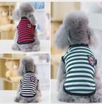 ボーダートップス XXL カラー3色 犬の服 猫の服 ペット服   わんこ服 ペットウェア 可愛い犬服