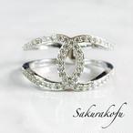 大人気☆D004 送料無料 レディース 指輪 アクセサリー クロス Cross design White sapphire Ring